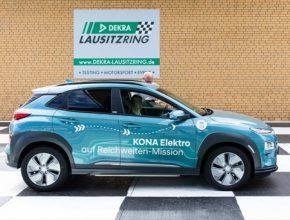 Test tří malých sériově vyráběných SUV proběhl na závodním okruhu Lausitzring. Všechny vozy Kona Electric překonaly hranici 1000 kilometrů.