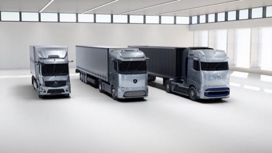 Připravovaná těžká nákladní auta na elektřinu automobilky Daimler