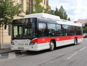 autobusy CNG zemní plyn Scania Kladno