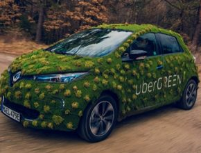 auto elektromobil Renault ZOe Uber Green