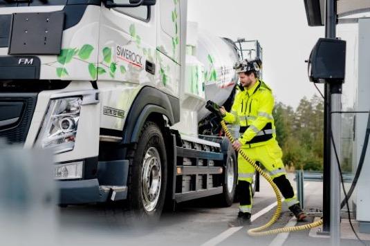 Nabíjení nákladního elektromobilu Volvo Trucks