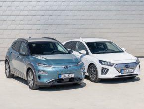auto elektromobily Hyundai Kona Electric a Ioniq Electric