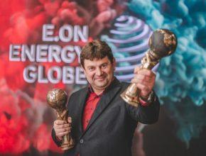Jaroslav Boleček_starosta vesnice Hostětín, absolutního vítěze E.ON Energy Globe