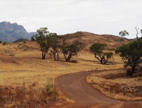 Outback Austrálie solární elektrárna