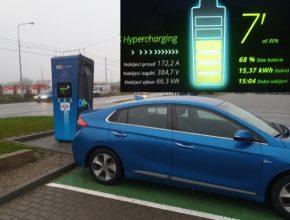 Nabíjení na Hyperchargeru PRE v Brně