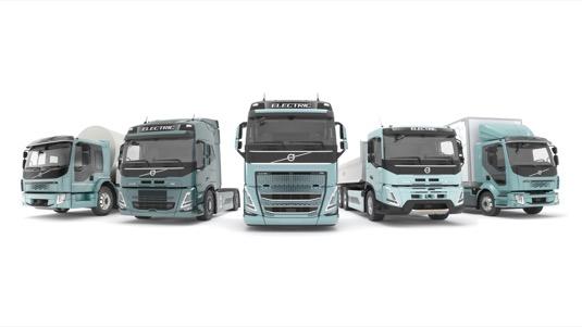 Nákladní elektromobily Volvo Trucks