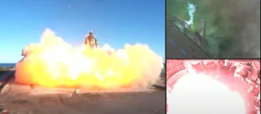 SpaceX Starship SN8 výbuch při přistání
