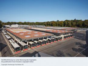 autobusové nádraží Hamburk nabíjecí stanice pro elektrobusy Siemens
