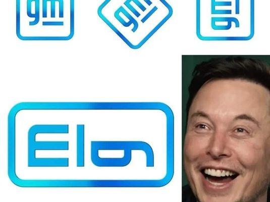 auto GM nové logo Elon Musk
