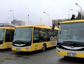 Flotila píseckých elektrobusů