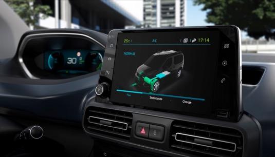 Interiér elektromobilu Peugeot e-Rifter