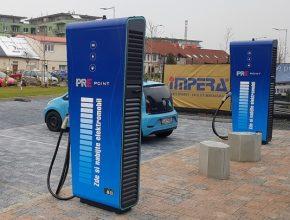 rychlonabíjecí stanice PRE Lidl Praha