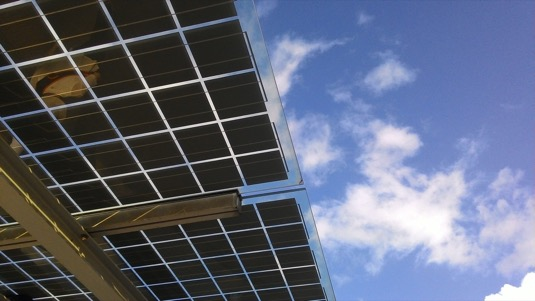 solární elektrárna panely