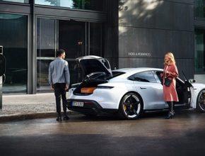 auto elektromobil Porsche Taycan síť nabíječek