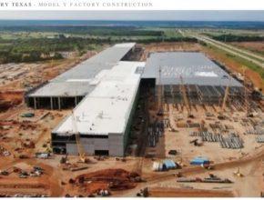 auto elektromobil Tesla Gigafactory Texas austin gigatovárna