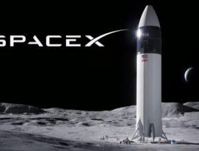 Vesmírná loď Starship společnosti SpaceX, kterou založil Elon Musk.