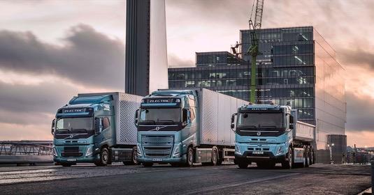 Elektrická nákladní auta Volvo Trucks