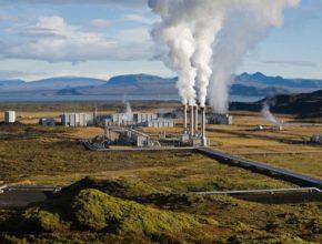 Geotermální elektrárna na Islandu