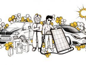 Snímek Biomasakr názorně ukazuje dopady pěstování řepky na českou krajinu, půdu, vodu a zdraví a na možnosti využití solární energie.