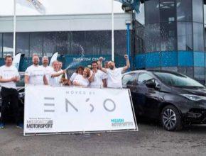 auto elektromobil Renault Zoe pneumatiky Enso rekord v dojezdu