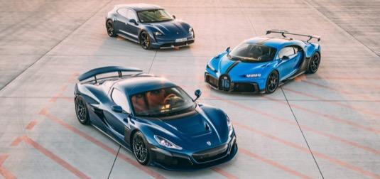 auto elektromobily Rimac Bugatti