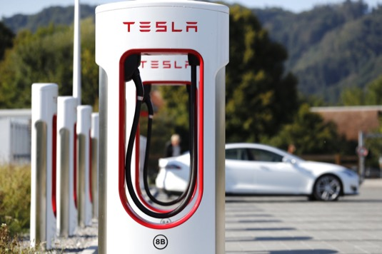 nabíjecí stanice Tesla Supercharger