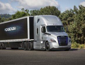 elektrický nákladní truck kamion tahač Daimler eCascadia
