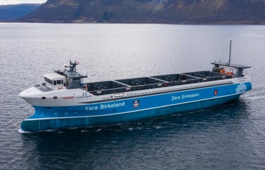 Yara Birkeland elektrická kontejnerová loď