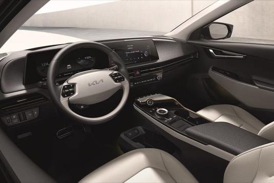 Přístrojová deska elektromobilu Kia EV6