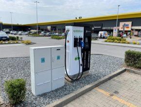 nabíjecí stanice e-station pro elektromobily Třebíč Stop Shop