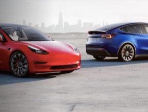 auto elektromobily Tesla Model 3 a Model Y