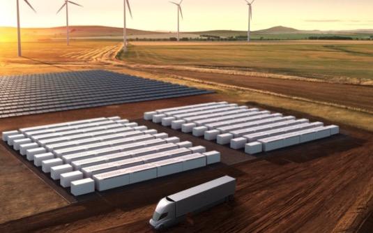 baterie pro elektrárny Tesla Megapack