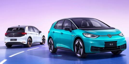 auto elektromobily Volkswagen ID.3 Čína