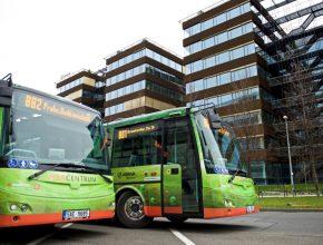 elektrobusy ČEZ Praha Brumlovka elektrický autobus