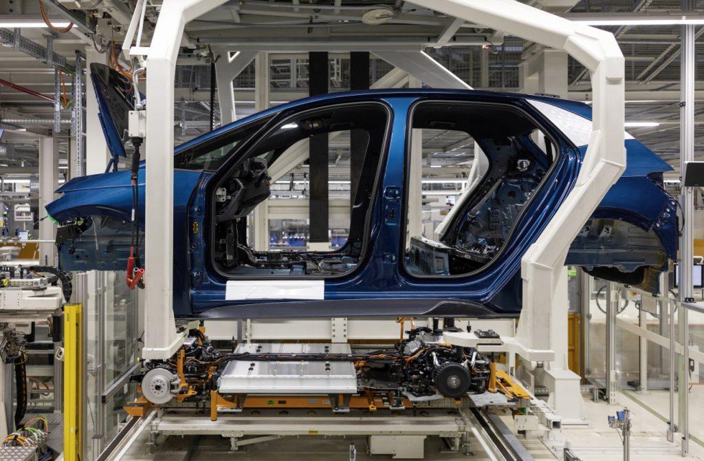 Výroba elektromobilu Cupra Born ve výrobním závodě Cvikov koncernu Volkswagen. foto: Oliver Killig/Cupra