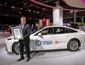 Auto na vodík Toyota Mirai má za sebou další rekord. foto: Toyota