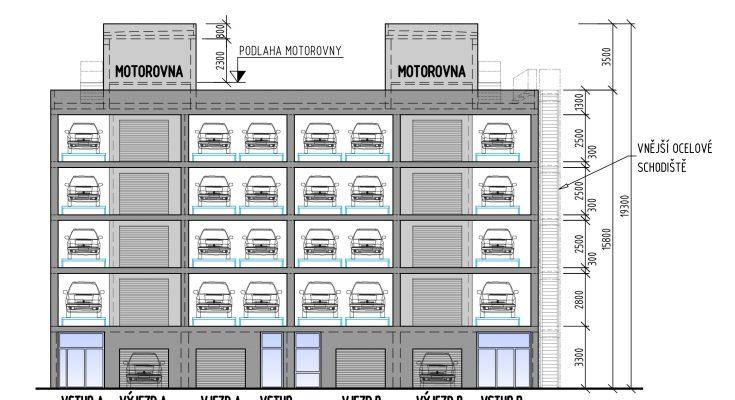 Schéma nového návrhu automatického parkovacího systému. foto: Vysoká škola báňská – Technická univerzita v Ostravě