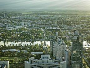 Pohled na vídeňskou linku metra U1 na východním předměstí © Wiener Linien/Johannes Zinner
