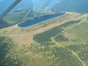 Přečerpávací elektrárna Dlouhé stráně - horní nádrž. foto: ČEZ