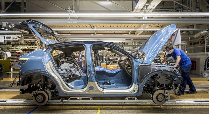 Výroba elektromobilů Volvo C40 Recharge v belgické továrně v Ghentu. foto: Volvo Cars